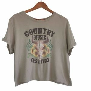 Country Music Festival Cropped T Shirt